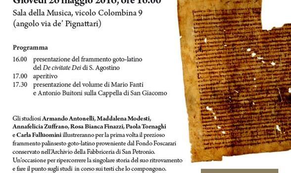 """""""Gothica Bononiensia"""": scoperta nell'archivio di San Petronio un'antica """"bibbia ariana"""" del VI secolo."""
